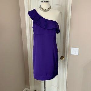 Trina Turk Intrigue One Shoulder Flounce Dress 14